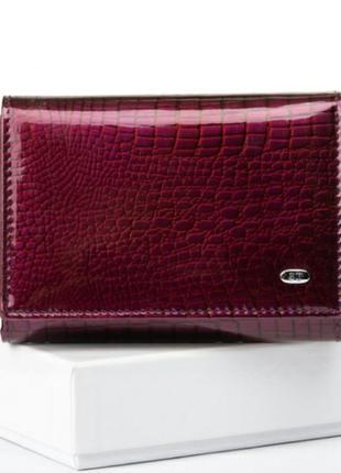 Женский компактный кожаный кошелек из натуральной кожи жіночий...