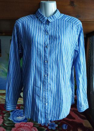 Полосатая женская рубашка 44-46р-h&m