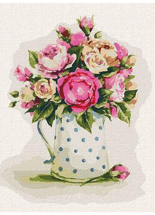 """Картина по номерам """"Хрупкие розы"""" ★★★★"""