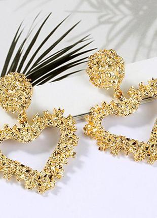 Серьги гвоздики золотистые