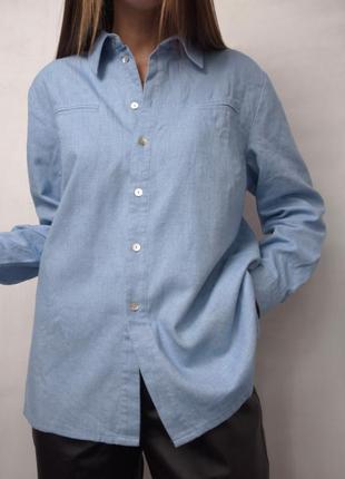 Рубашка теплая байковая хлопковая