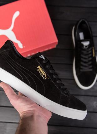 Мужские ЗАМШЕВЫЕ кроссовки Puma Smash Suede Black