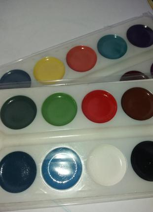 Краски акварельные для рисования 16 цветов