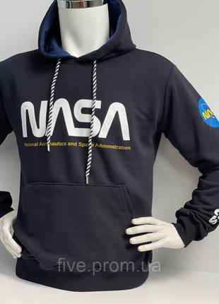 Мужская толстовка NASA 3 нитки с капюшоном Kameny производство...