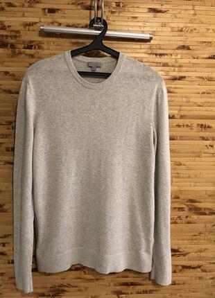 Свитер пуловер cos из шерсти яка светло-серого цвета