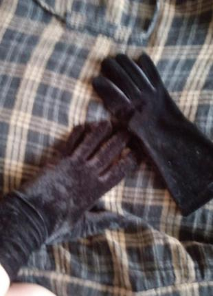 Перчатки велюр