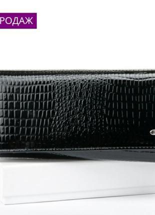 Большой кожаный кошелек из натуральной кожи жіночий шкіряний г...