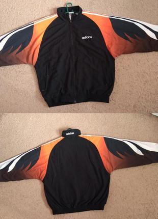 Утепленная ветровка adidas vintage адидас винтаж куртка кофта