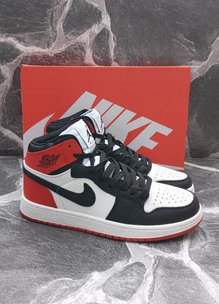 Мужские кроссовки nike air jordan 1 retro кожаные.высокие.хайтопы