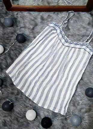 Топ блуза кофточка майка с вышивкой из натуральной вискозы dor...