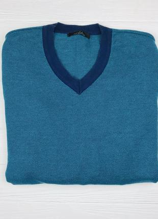 Хлопковый мужской свитер с v-образным вырезом