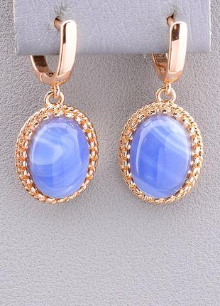 Серьги 'pataya' голубой агат (позолота 18к) 0597180