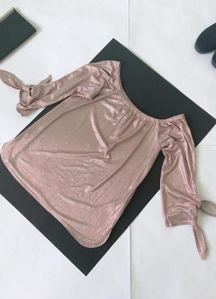 Блуза блузка плиссе блестящая new look. 10/38/м