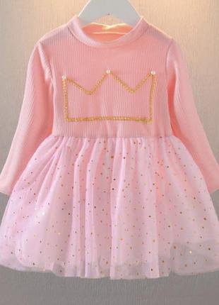 Платье фатин корона нарядное модное