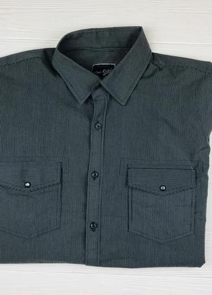 Мужская рубашка в темно сером цвете