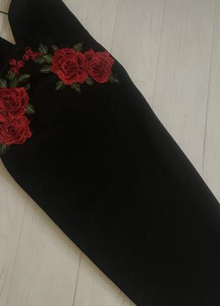 Платье миди вышивка