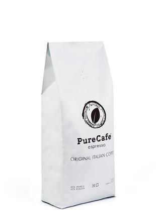 Кофе PureCafe Espresso, зерно, 40% Арабики, Италия, 1кг