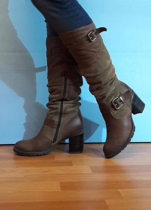 Теплые кожаные  сапоги германия