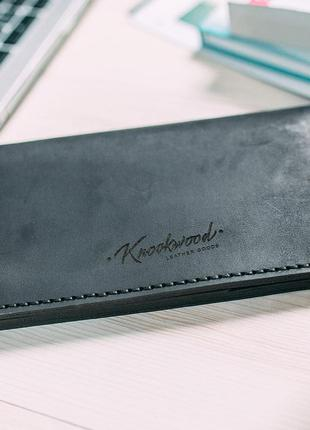 Портмоне knockwood - norfolk, black кошелек кожа