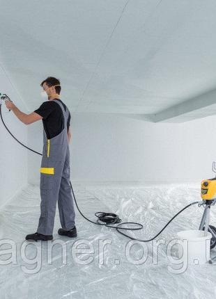 Покраска фасада, покраска стен, безвоздушная покраска