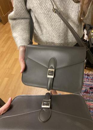 Серая компактная сумочка
