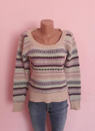 Вязанный свитер джемпер в узоры per una. р/р s