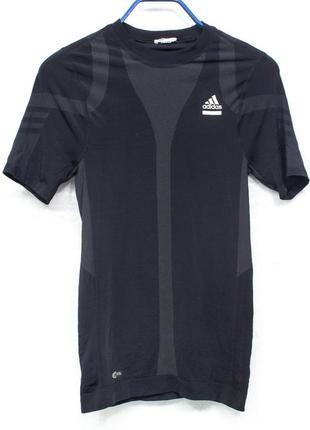 Adidas tech размер s-m компрессионная футболка мужская