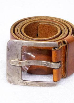 Ремень мужской кожаный petrol red label р s-m вся длина 108, н...
