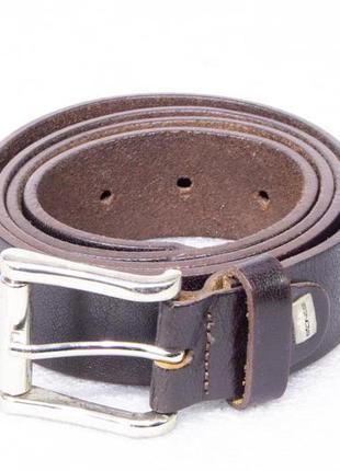 Ремень мужской кожаный коричневый stones размер l-xl  на талию...