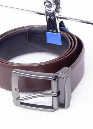 Ремень мужской кожаный двухсторонний steel&jelly размер m-l (w34)