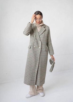 Пальто с поясом , серое пальто , шерстяное пальто
