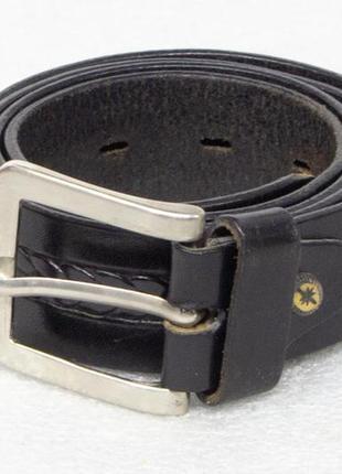 Ремень мужской кожаный размер l-xl вся длина 117, на талию 87-...