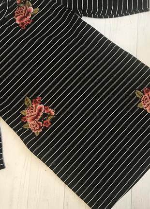 Платье прямой крой в полоску