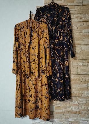 Стильное платье миди из вискозы