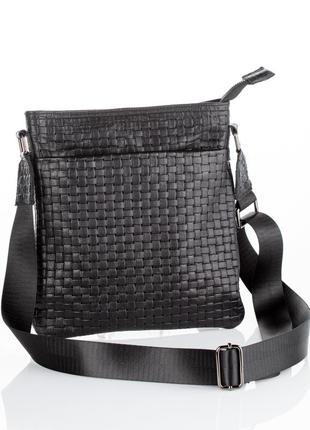 Мужская сумка через плечо, натуральная кожа