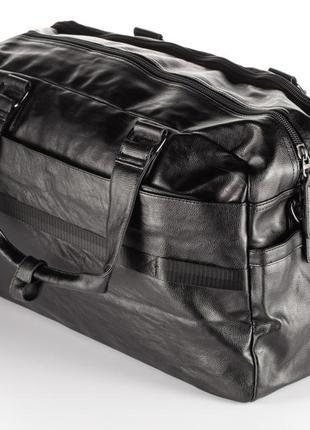 Мужская дорожная сумка, эко-кожа