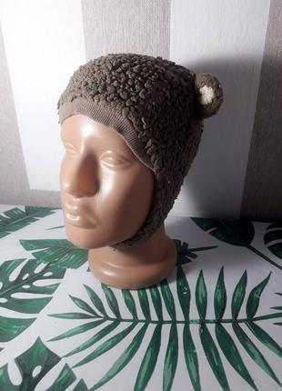 Распродажа милая шапка ушанка с ушками 12-18 месяцев