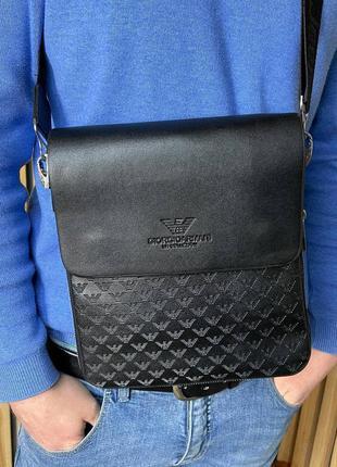 Мужская сумка через плечо, эко-кожа