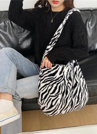 Плюшевая сумка шоппер