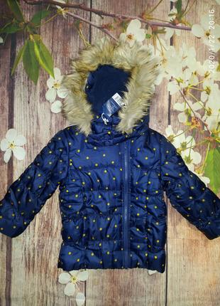 Фирменная куртка на девочку 2-4 года