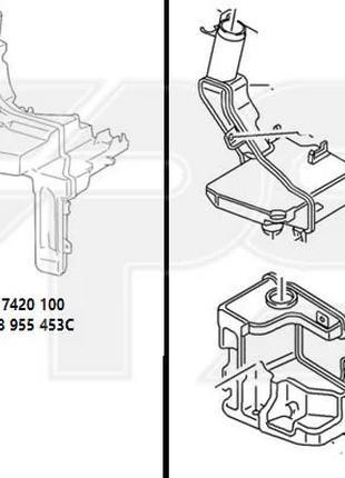 Бачок омывателя VW PASSAT CC 08-12 для авто с фарами ксенон (двой