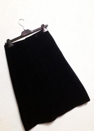 Велюровая бархатная юбка трапеция