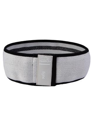 Резинка для фітнеса тканева 4111 S Сірий диаметр 64cm SKL24-27...