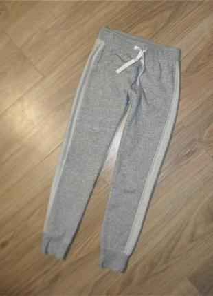 Серебряные спортивные штаны на 7-8лет рост 128