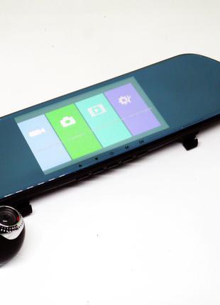 DVR V9TP Full HD Зеркало с видео регистратором с ТРЕМЯ камерами.