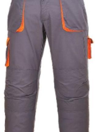 Брюки рабочие TX11, цвет - серый / оранжевый