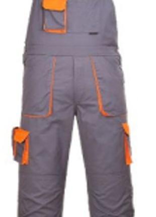 Полукомбинезон  рабочий TX12 Portwest Texo , серый с оранжевым