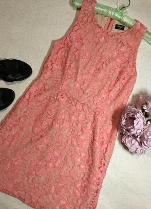 Платье кружевное ажурное oasis размер 10