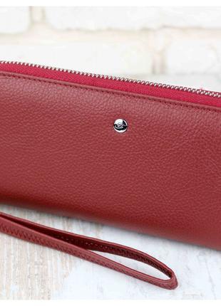 Женский кожаный кошелек Dr. Bond бордовый