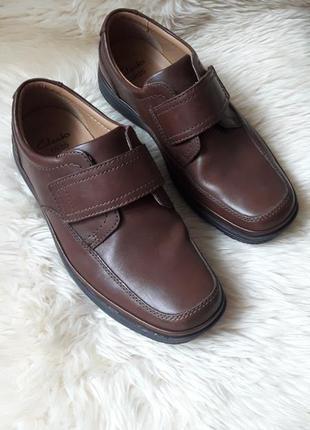 Кожаные туфли clarks 41 размер